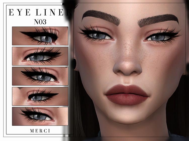 Merci's Eyeliner N03 Sims 4 CC screenshot