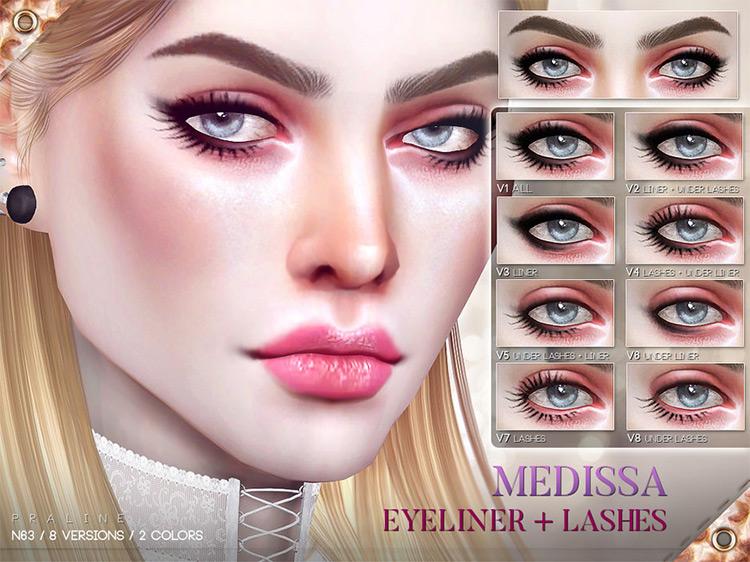 Pralinesims' Medissa Eyeliner N63 + Lashes TS4 CC