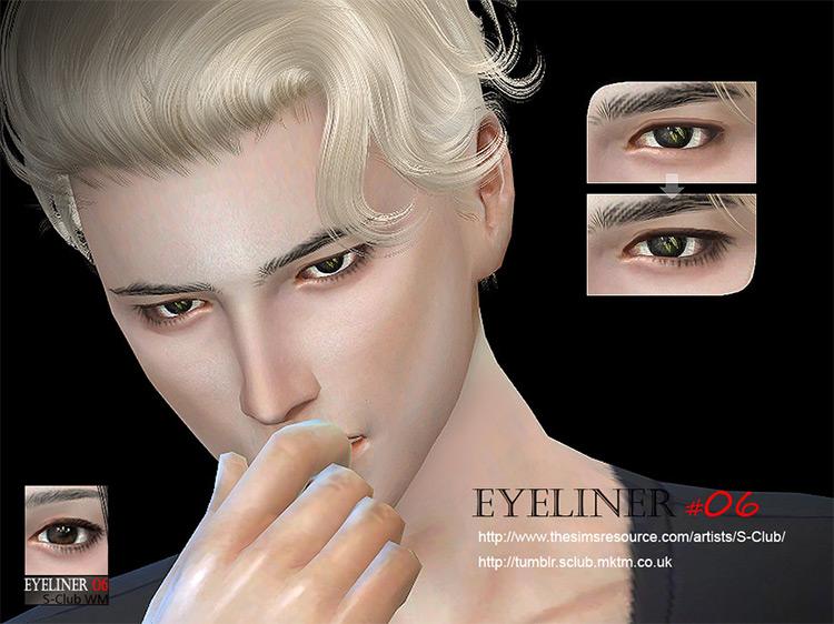 S-Club's WM TS4 Eyeliner 06 Sims 4 CC