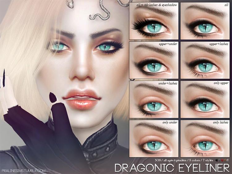 Pralinesims' Dragonic Eyeliner N38 for Sims 4