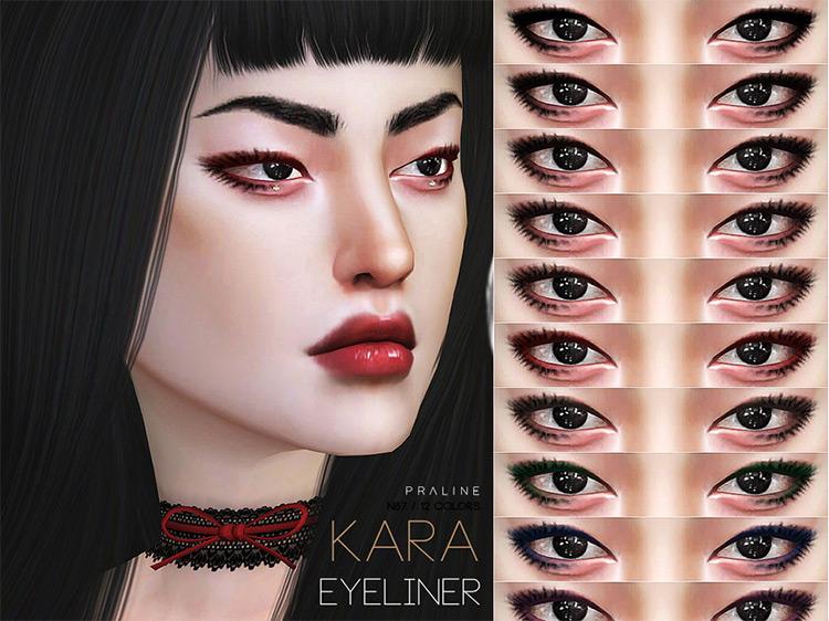 PralineSims' Kara Eyeliner Sims 4 CC screenshot