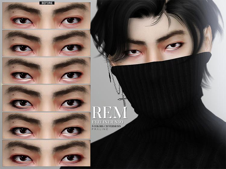 Pralinesims' REM Eyeliner Sims 4 CC