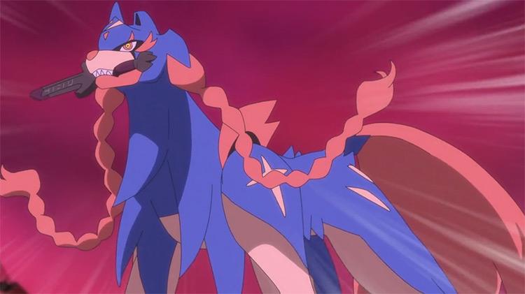 Zacian from Pokémon anime
