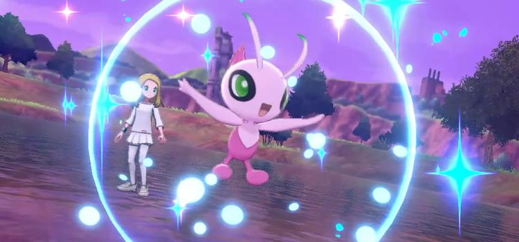 Purple Celebi in-game screenshot