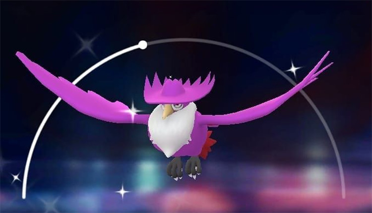 Purple Shiny Honchkrow Pokémon