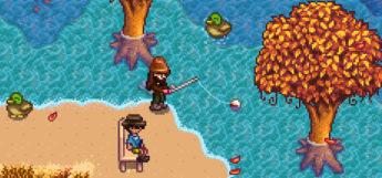 Fishing screenshot in Stardew Valley