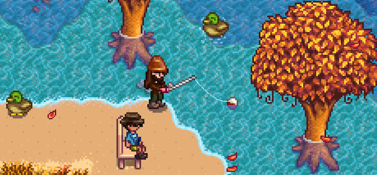 Fishing screenshot in Stardew Valley