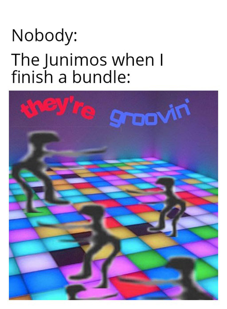 The Junimos when I finish a bundle