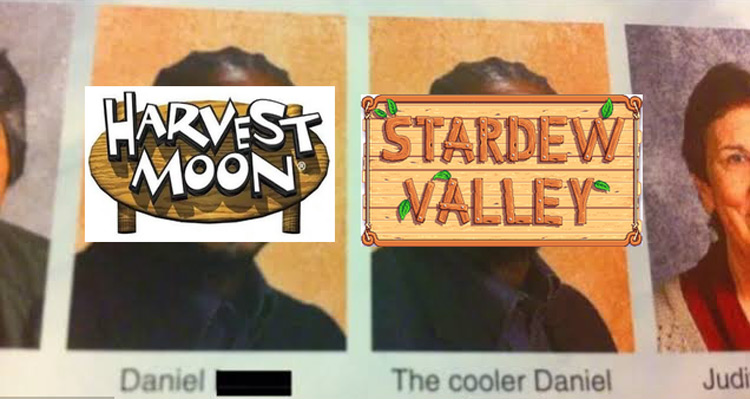 Harvest Moon and the cooler Stardew Valley meme
