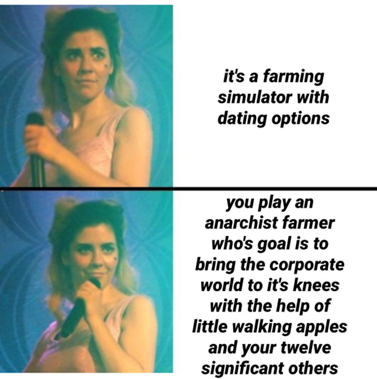 Farmin Sim with dating options meme