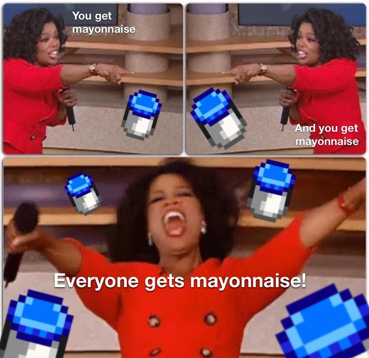 Get mayonnaise Oprah meme