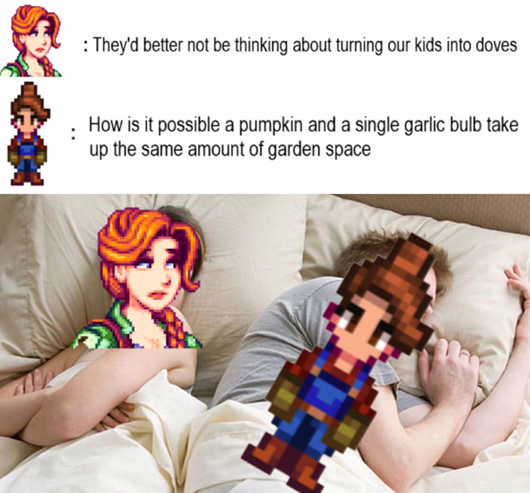 Stardew thinking of kids meme