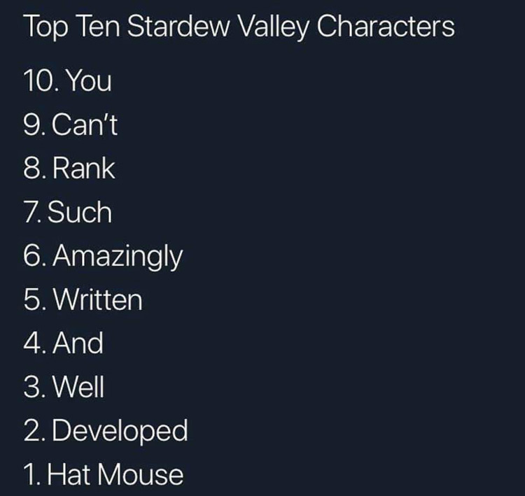 Best stardew valley characters ranked meme