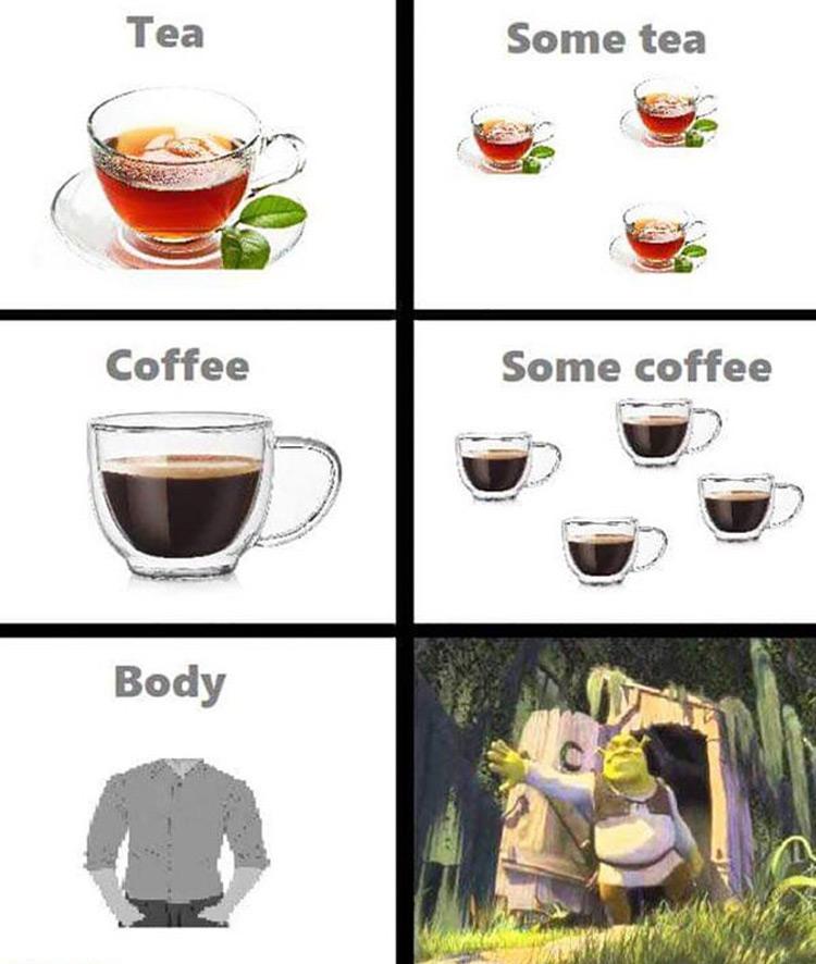 Some tea, some coffee, some body meme
