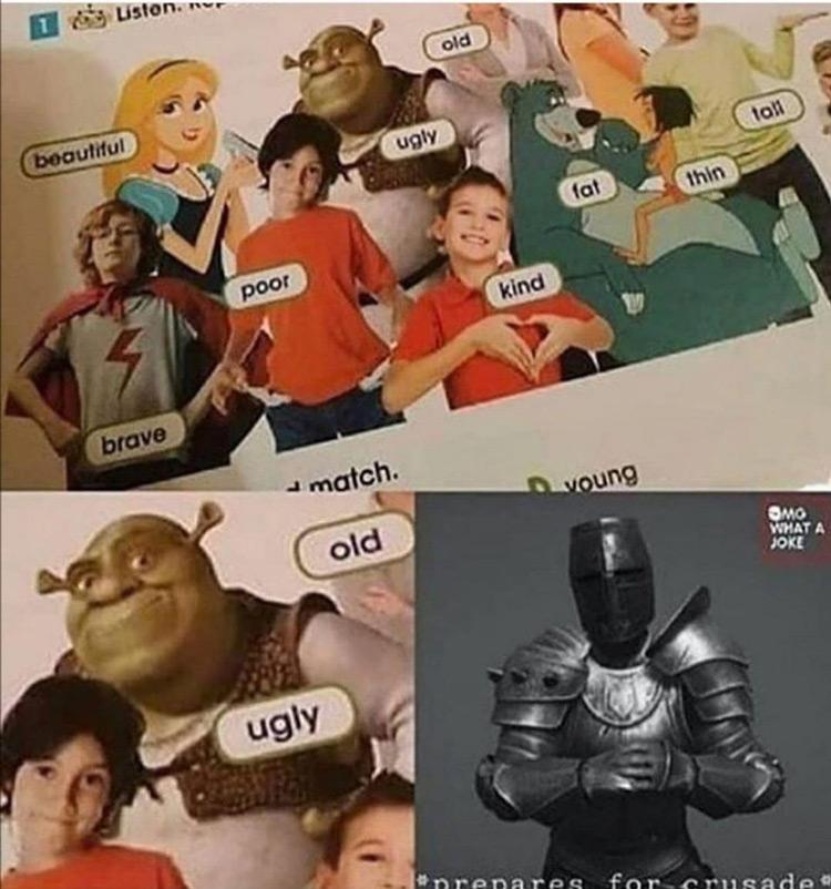 Old ugly meme