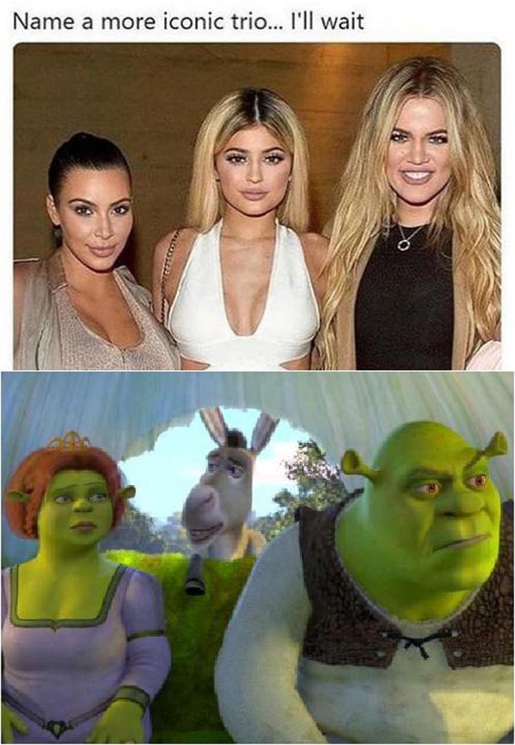 Name a more iconic trio for Shrek