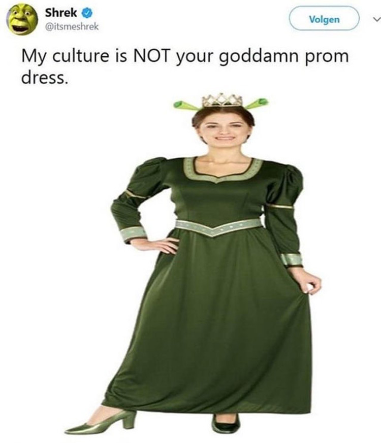 Culture is not your prom dress meme