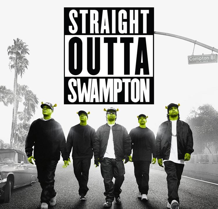 Shrek Compton - Straight Outta Swampton meme
