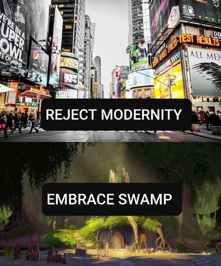 Reject Modernity, Embrace Swamp Meme