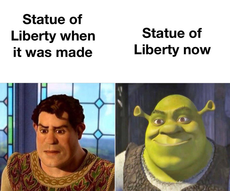 Statue of Liberty Shrek meme