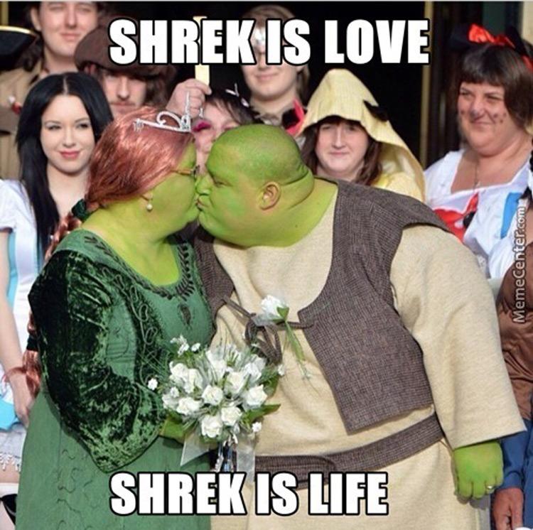 Shrek is love marriage meme