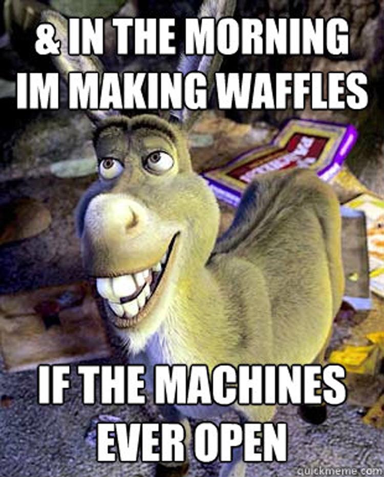 Morning im making waffles meme