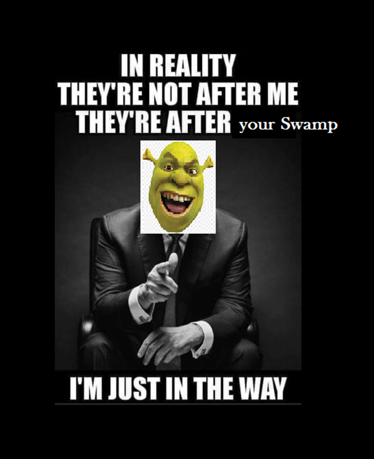 Shrek just in the way meme
