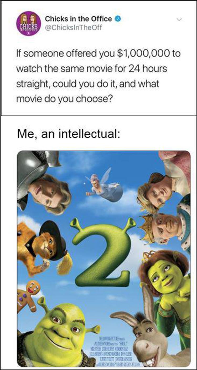 Intellectual Shrek 2 meme