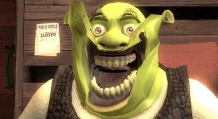 Shrek big smile meme
