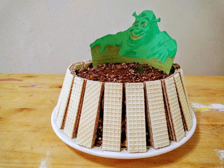 Shrek in cake meme