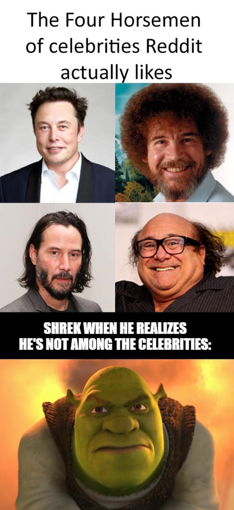 Four horsemen celebrities Shrek emme