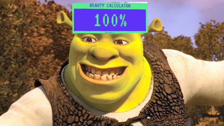 Beauty calculator on Shrek = 100%