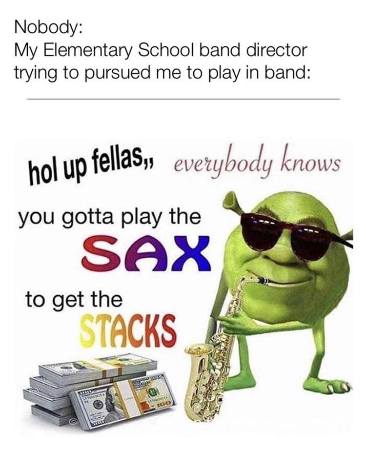 Sax to get Stacks meme
