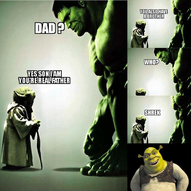 Shrek dad meme