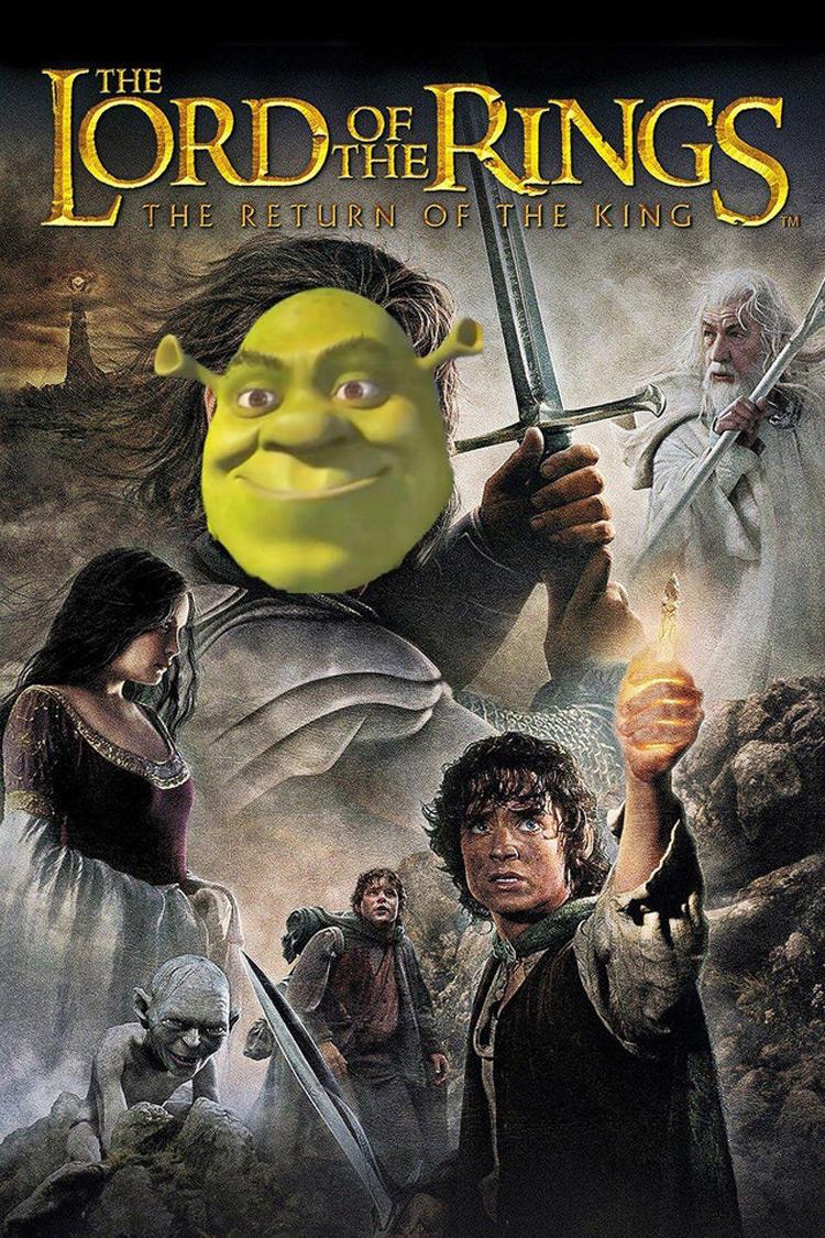 Lord of the Rings Shrek meme