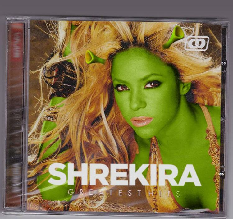 Shrekira album cover meme