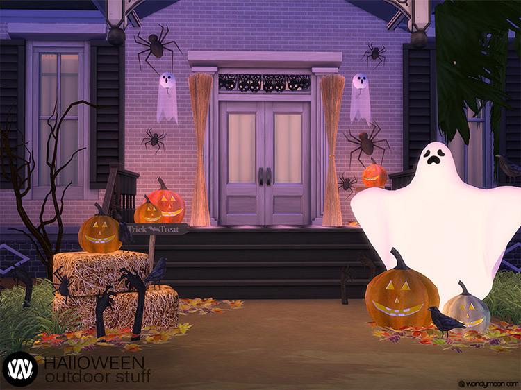 Halloween Outdoor Stuff Sims 4 CC