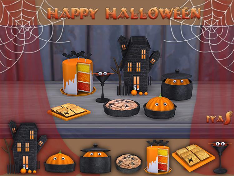 Happy Halloween Set Sims 4 CC