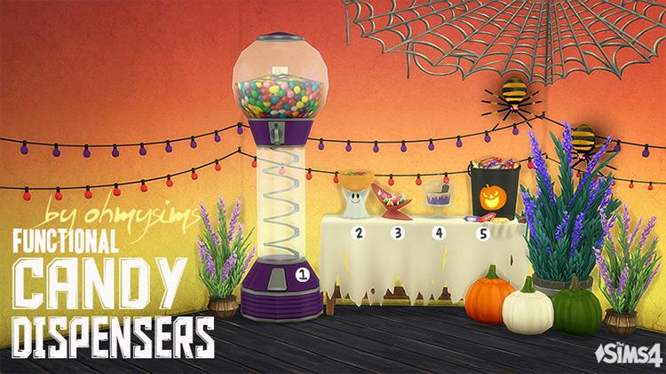 Functional Candy Dispensers Sims 4 CC screenshot