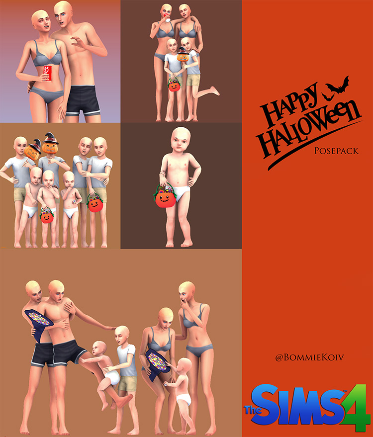 Happy Halloween Pose Pack Sims 4 CC