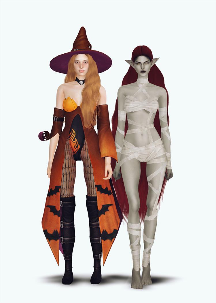 Plazasims' Halloween Set Sims 4 CC