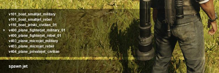 JC4 Entity Spawner mod screenshot