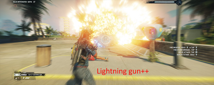 Lightning Gun++ mod for Just Cause 4