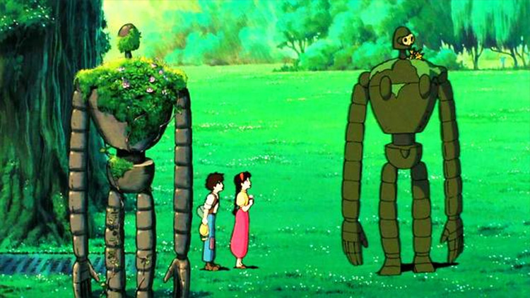 Robots from Laputa: Castle in the Sky anime