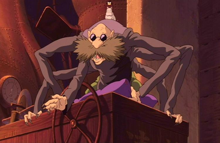 Kamaji Spirited Away Studio Ghibli anime screenshot
