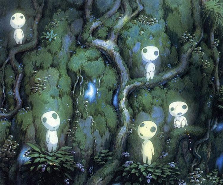 Kodama from Princess Mononoke Studio Ghibli anime