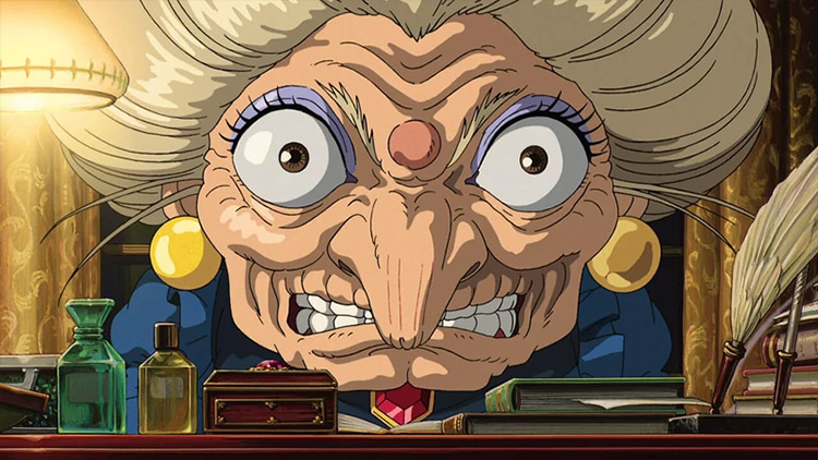 Yubaba Spirited Away Studio Ghibli anime screenshot