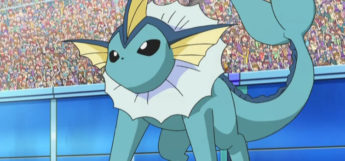 Vaporeon Battle Stance in the Anime