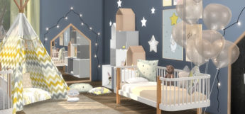 TS4 Evalina Nursery Crib CC Screenshot