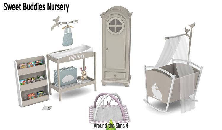 Baby accessesories Sweet Buddies Nursery Sims 4 Mod